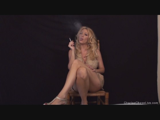 Charlee chase smoking amusing